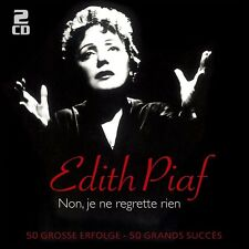 EDITH PIAF - NON,JE NE REGRETTE RIEN-50 GROßE ERFOLGE 2 CD NEU