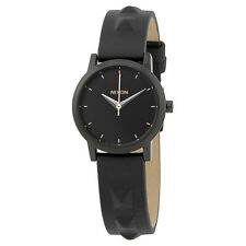 Nixon Kenzi Black Dial Ladies Studded  Leather Watch A3981669