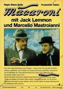 "DDR Progress Filmplakat A3 Macaroni ""Jack Lemmon / Marcello Mastroianni"""