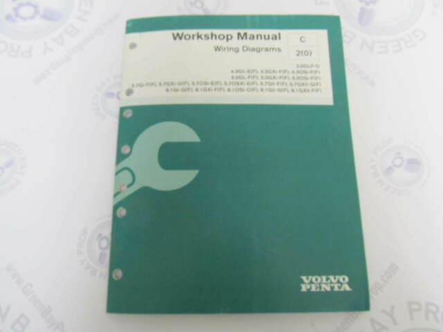 7745609 Volvo Penta Service Workshop Manual Wiring