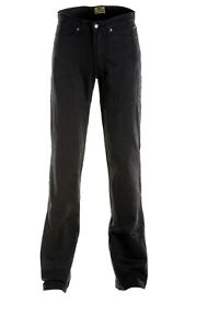 Draggin-Jeans-Classic-Mens-Black-Motorcycle-Trousers-NEW