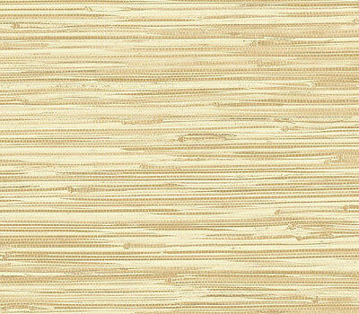 "12""/31cm Wallpaper SAMPLE Cream and Tan Faux Grasscloth"