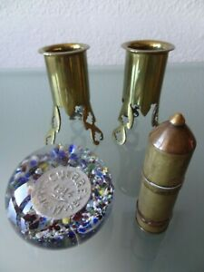 lot-d-039-objets-de-poilu-guerre-14-18-artisanat-de-tranchees-obus-sulfure-briquet
