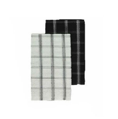 2x 3x 6x 12x 100/% Cotton Jumbo Check Terry Tea Towels Kitchen Dish Cleaning XL