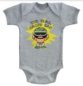 Kleidung, Schuhe & Accessoires Besorgt Macho Man Randy Wild The Real Macho Baby-strampler Onezies 6-24 Monate Exquisite Traditionelle Stickkunst