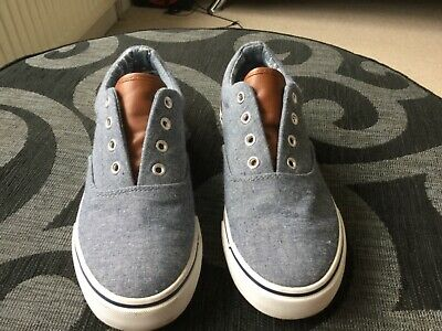 Girls Boys Lace up Canvas Pumps Casual Summer Trainers Flat Plimsoles Kids Size