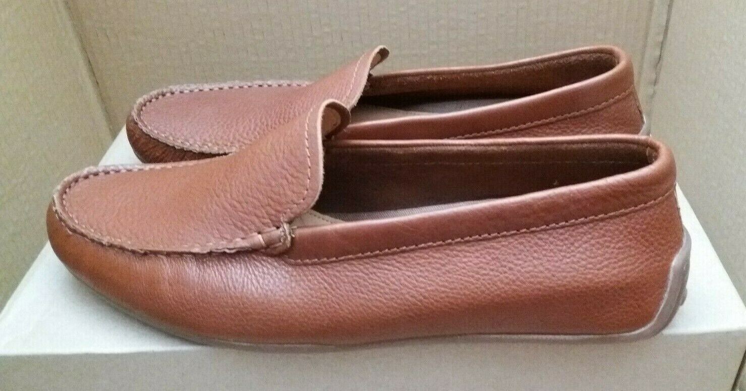 CLARKS 'Reazor Edge' Driving Moccasin style Loafers - Tan Leather - UK 8.5 G