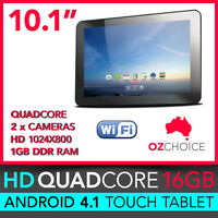 10.1 16gb Quadcore Ips Google Android Tablet Wifi 3g Slim Metal Back