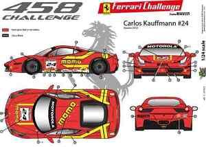 "FFSMC Productions Decalcomanie 1//43 Ferrari F-458 Challenge 2012 /""Momo/"""