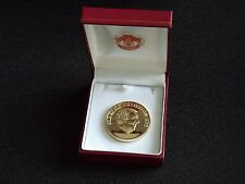 MANCHESTER UNITED - SIR ALEX FERGUSON COIN - BOXED.