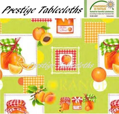 Apricots and Oranges PVC Vinyl Wipe Clean Tablecloth Code ALL SIZES F106-1