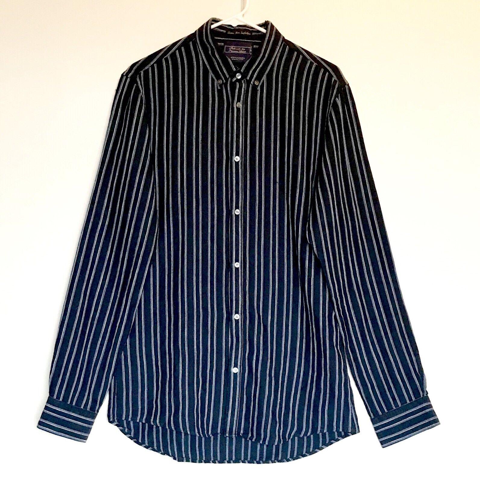Scotch & Soda Striped LS Linen Mix Shirt. NWT Medium Retail  Price