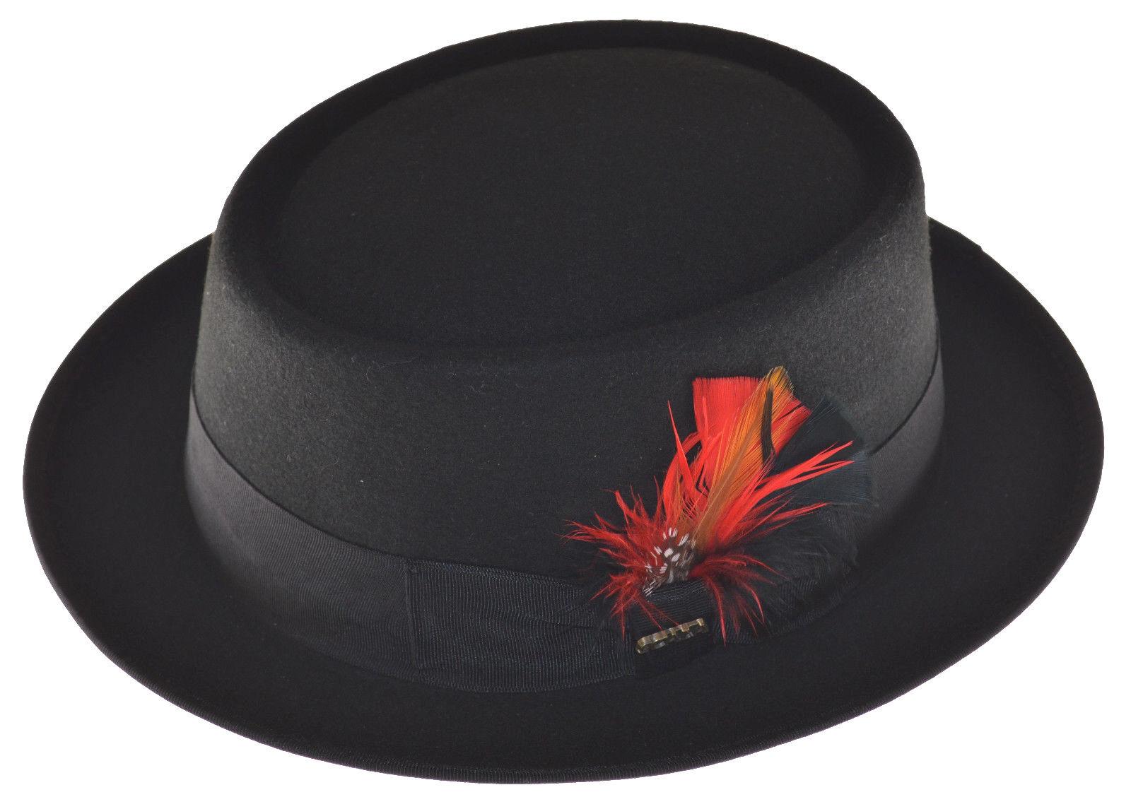 Scala Herren Wolle Rocker Wolle Fedora-Black-Large