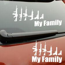 Funny Gun My Family Sticker Decal Laptop Vehicle Car Truck Bumper Window Wall