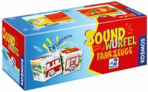 Kosmos-Soundwuerfel-Fahrzeuge-Lernen-Spielzeug-Kinderspiel-Lernspiel-NEU