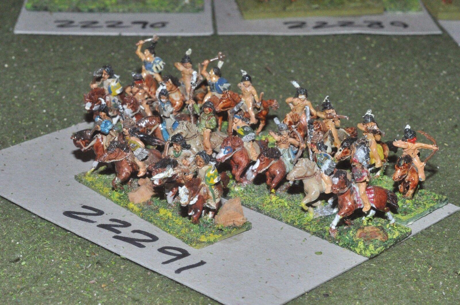 15 mm ACW Indian-Old West Warriors 20 figurines cavalerie-CAV (22291)