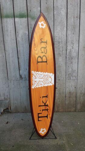 Deko Surfboard 130 cm Surfbrett aus Holz Retro Board surfen vintage SU 130 N3