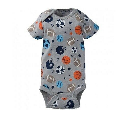 75138887b Gerber Baby Boy 1-piece Gray Sports Onesie Size Newborn for sale online    eBay