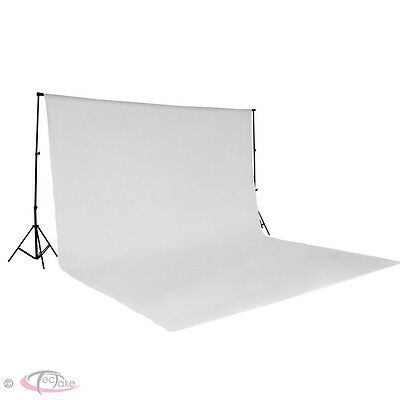 Professional Photo Studio + Backdrop 6x3m white + Stand Support Photography Set