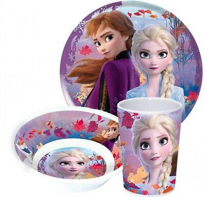 """Disney Frozen /"""" Die Eiskönigin 2 Melamin Set Becher,Teller /& Müslischüssel NEU"""