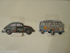 "VW VOLKSWAGEN VAN & BUG Oil Gas Service Garage 3"" Refrigerator Toolbox Magnets"