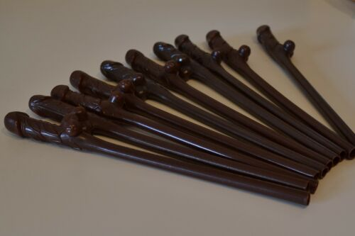 "Brown Girls Naughty Nights Novelty Drinking Straws Hen Party Willy Straws 7½/"" !"