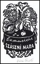 Vincze Laszlo X3 Exlibris 1989 Bookplate Erotic Woman Music Guitar s442