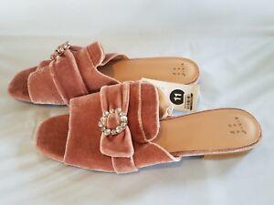 7fa584cde219 Womens Dina Velvet Embellished Slide Sandals - A New Day - Blush ...