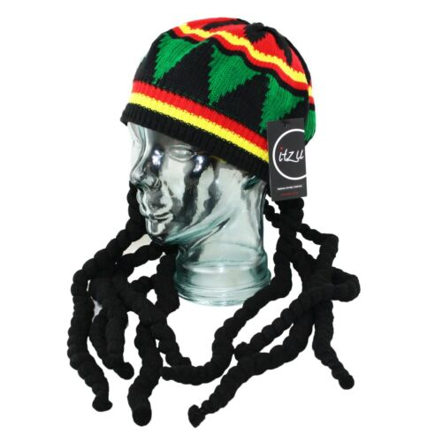 Itzu RASTA Dreadlocks Hair Tam Beanie Cap Fancy Dress Party Jamaica