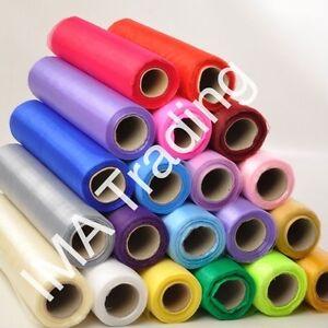 9-m-x-40-cm-Organza-Roll-transparent-tissu-mariage-CHAISE-Avec-N-ud-de-Ruban-Table-Runner-Parti