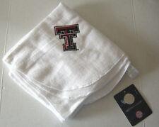 "Texas Tech University Receiving Blanket, White, 26"" x 28"", Fleece, Brand New"