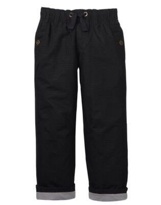 GYMBOREE SHIPMATES BLACK GYMSTER JERSEY LINED ACTIVE PANTS 2 3 4 5 NWT