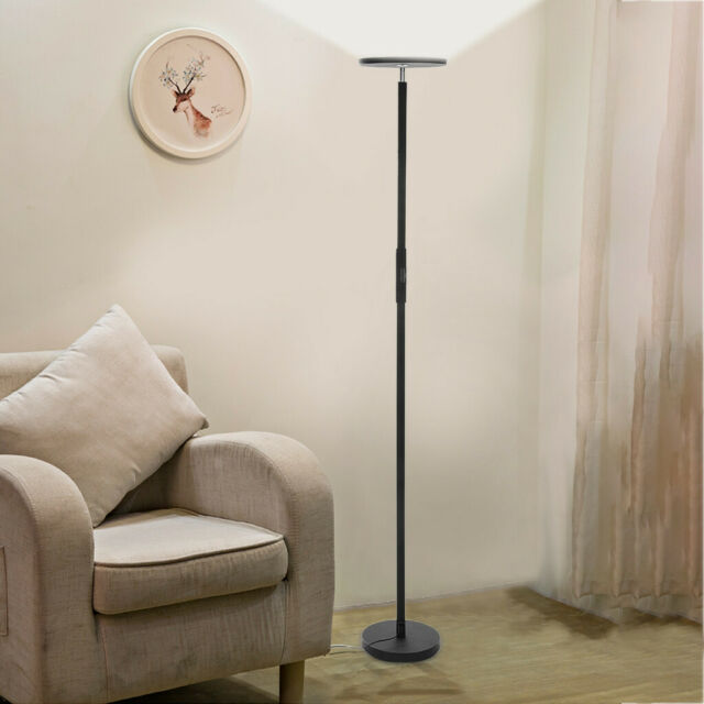 Dimmable Led Floor Lamps Tall Standing Modern Pole Light With Remote Control 30w