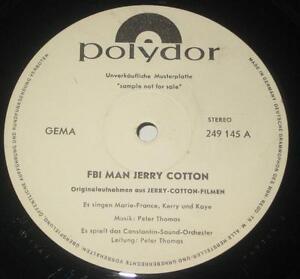 LP-MUSTERPLATTE-PROMO-FBI-MAN-JERRY-COTTON-PETER-THOMAS-Polydor-249145-MEGARAR