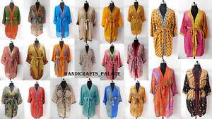 Vintage-Silk-Kimono-Women-Nightgown-Dressing-Gown-Bathrobe-90-Pcs-Wholesale-Lot