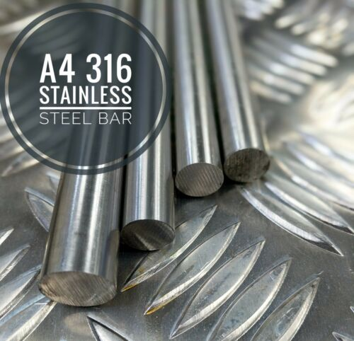 A4 316 Stainless Steel Bar Metric Sizes Cut To Lengths 2mm To 100mm Diameters