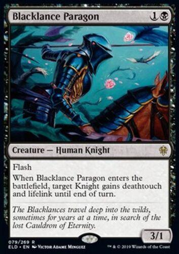 Blacklance Paragon MTG Magic ELD *MRM* FRENCH Parangon Lancenoire