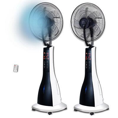 Ventilador de pie con nebulizador pulverizador de agua y mando a distancia 90W