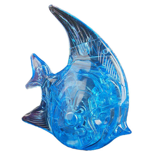 Decorative 3D Crystal Puzzles Blue   Model Building Kits Birthday Gift