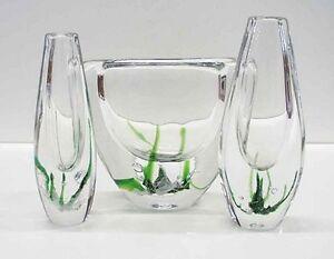 3-Kosta-Boda-glass-vases-by-Vicke-Lindstrand-Modern-Swedish-design