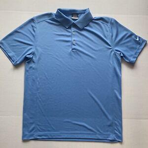 Mens-Large-Nike-Blue-Short-Sleeve-Golf-Polo-Dri-fit
