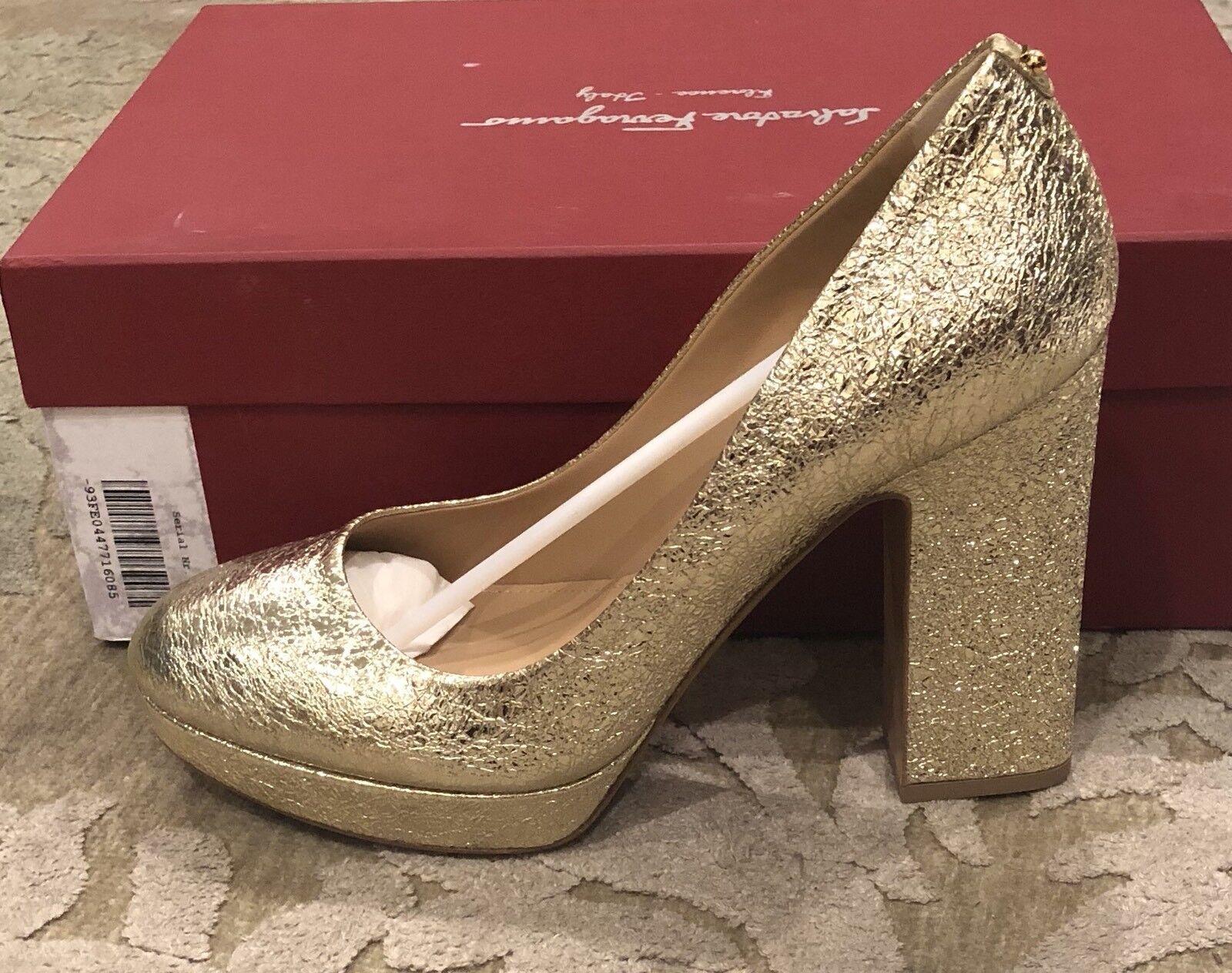 795 Nueva Salvatore Ferragamo Ferragamo Ferragamo oro señoras para mujer Tacones Zapatos Talla 8.5 C 38.5 de EE. UU.  sorteos de estadio