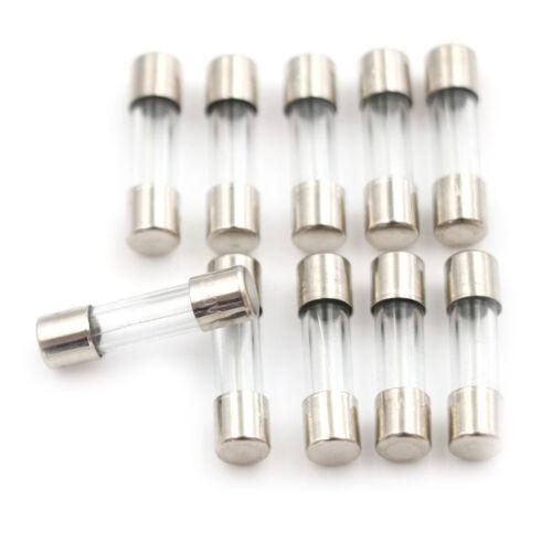 10pcs Glass Tube Fuse 5mm x 20mm 1.6A T1.6A 250V Slow Blow 1.6Amp~l
