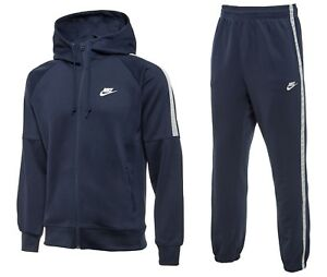 d387058c NIKE TRIBUTE MENS FULL HOODED TRACKSUIT NAVY BLUE FULL ZIP HOODY | eBay