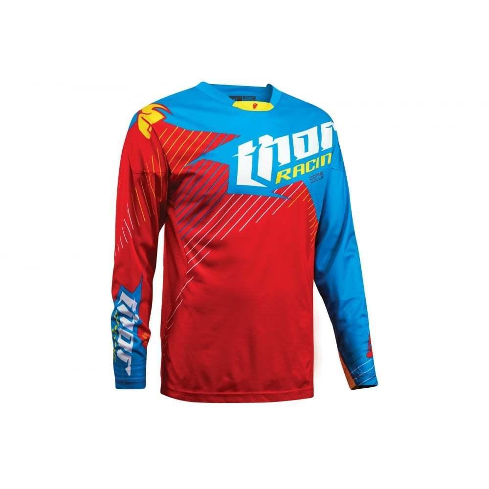 THOR Core Motocross MX Enduro JERSEY Hux LIMITED edizione-ROSSO CIANO-vendita