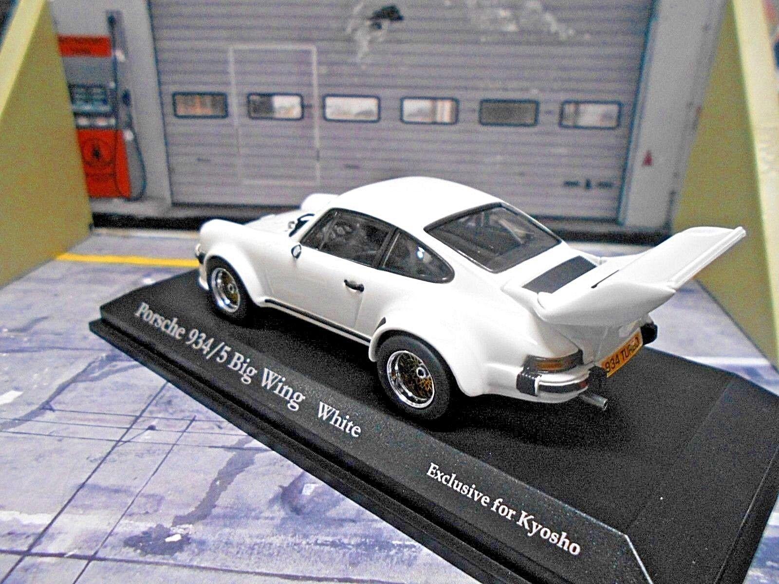 Porsche 911 934 5 934 5 BIG BIG BIG WING Blanc blanc Racing Street KYOSHO 1 43 932c95