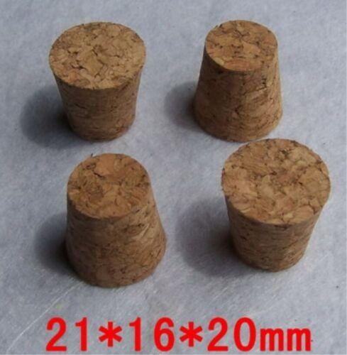 NEW 50pcs 21*16*20mm Small cork Small diameter glass stopper Tube plug