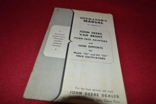 John Deere Powr-Trol Adapters CC 147  CC Field Cultivator Operators Manual DCPA5