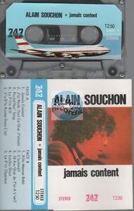 Alain Souchon Jamais Content cassette K7 tape 747 label - France - État : Bon état: Objet ayant déj servi, mais qui est toujours en bon état. Le botier ou la pochette peut présenter des dommages mineurs, comme des éraflures, des rayures ou des fissures. Pour les CD, le livret et le texte arrire du botier s - France