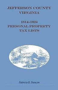 NEW-Jefferson-County-Virginia-1814-1824-Personal-Property-Tax-Lists